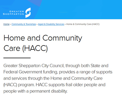 Home and Community Services