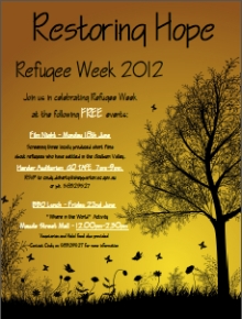 Restoring Hope, Refugee Week 2012