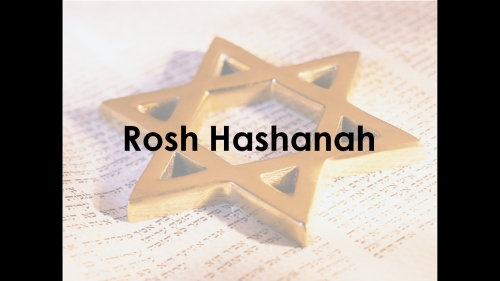 PowerPoint on Rosh Hashannah opening slide