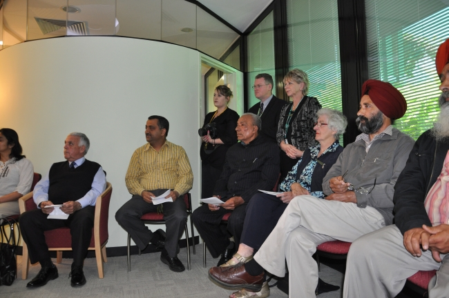 Hospital staff and Shepparton faith community representatives at the launch of the sanctuary