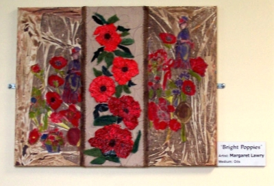 Bright Poppies Tryptich by Margaret Lawry