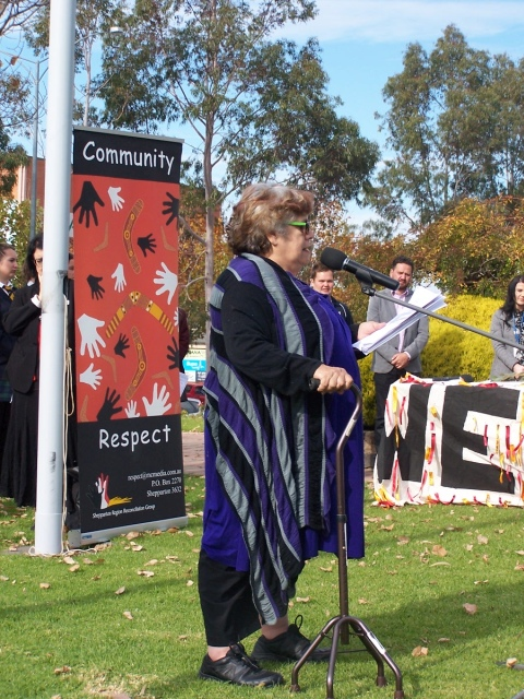 Aunty Alice Solomon at Sorry Day, Shepparton, 2015