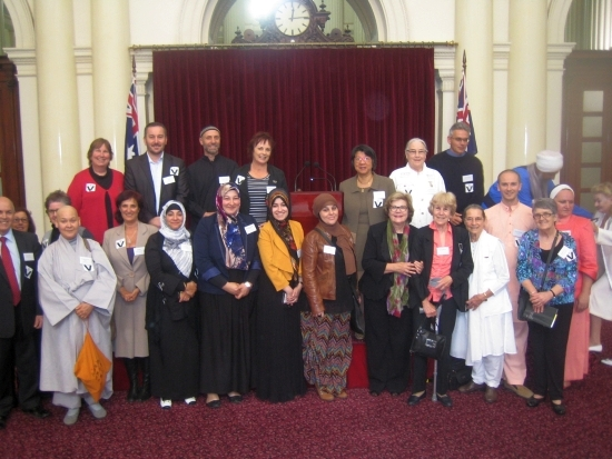 Participants at the World Interfaith Harmony Week Celebration, Melbourne, 2013