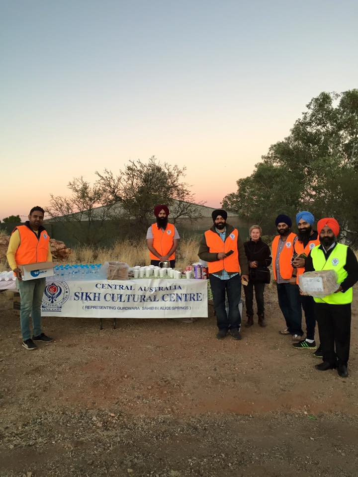 Dawn Service at Alice Springs: Sikhs prepare breakfast for participants and those marching