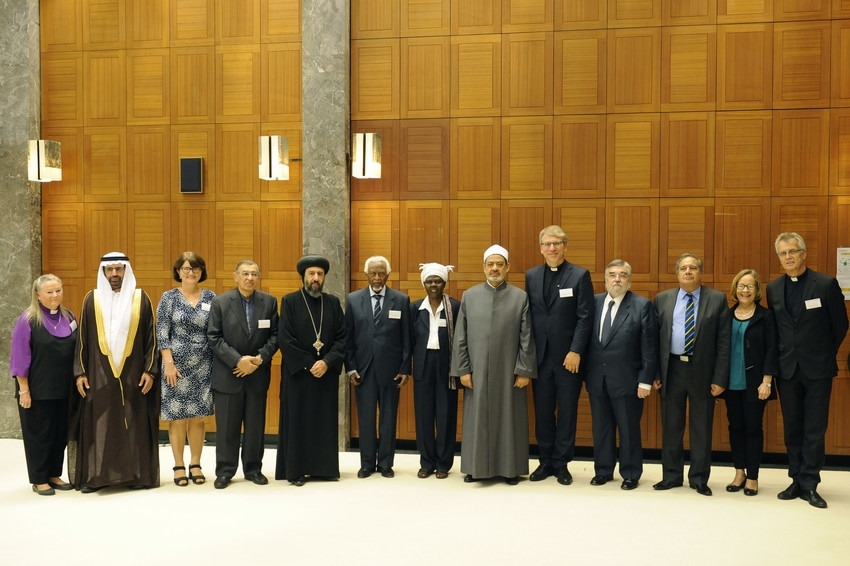 Switzerland, Geneva, 30 September 2016  The Grand Imam of Cairo's Al-Azhar mosque and university, Prof. Dr Ahmad al-Tayyeb, visited today the World Council of Churches to participate in high-level dialogue on interreligious peacemaking.