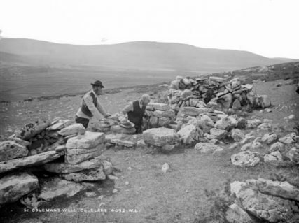 St. Colman's well, circa 1880–1900. Photo courtesy of National Library of Ireland
