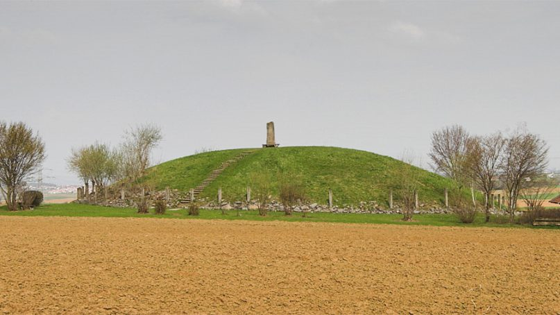 reconstructed Celtic burial mound near Eberdingen, Germany
