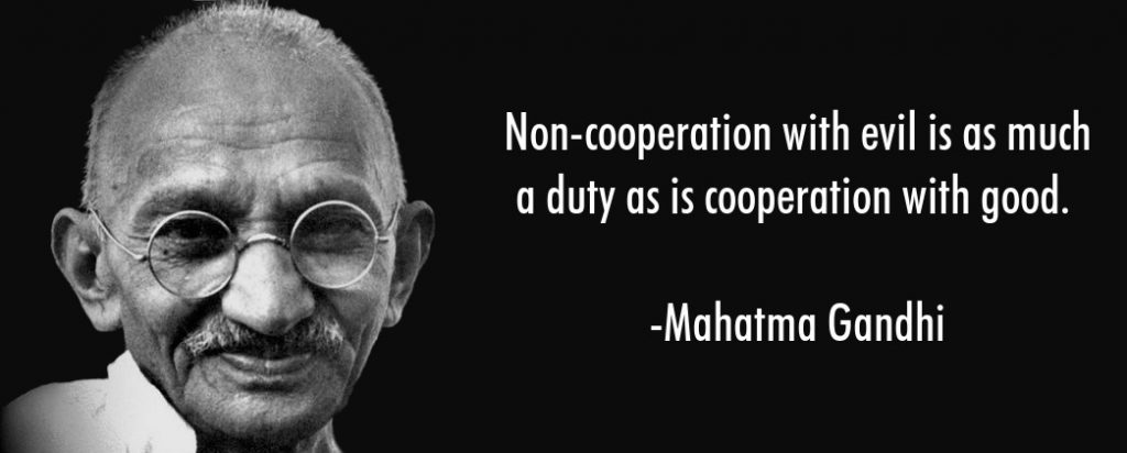 Gandhi on cooperation with evil