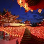 buddhist lamps - new year