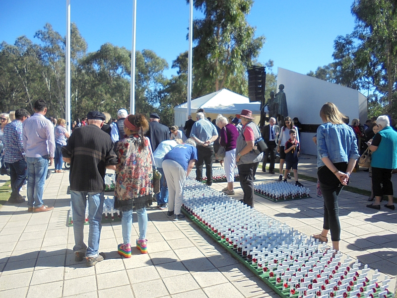 Field of Remembrance, Shepparton, ANZAC Day 2019.