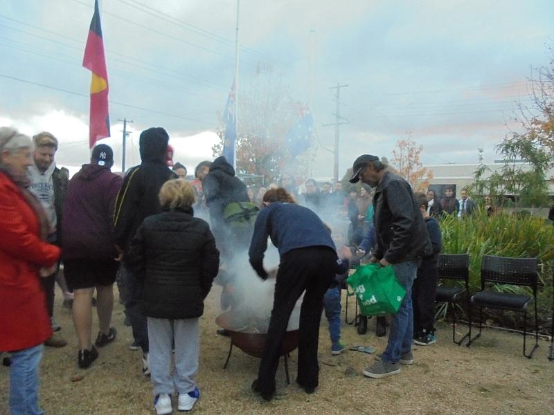 Smoking Ceremony, Latrobe University Shepparton