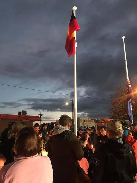 Flag raising Shepparton