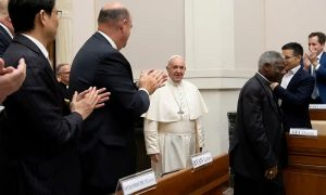 Pope Francis enters Casino IV
