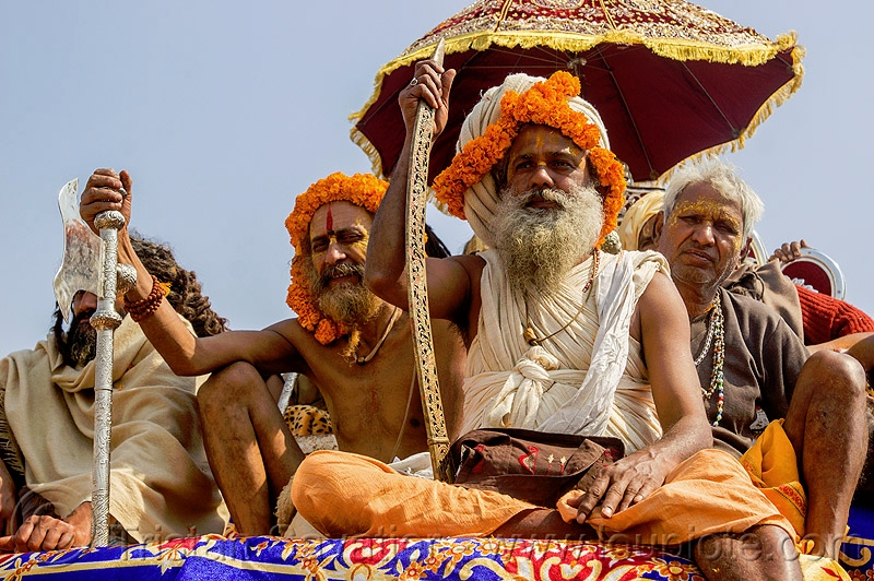 Hindu Guru with ritual sword - Kumbh Mela India