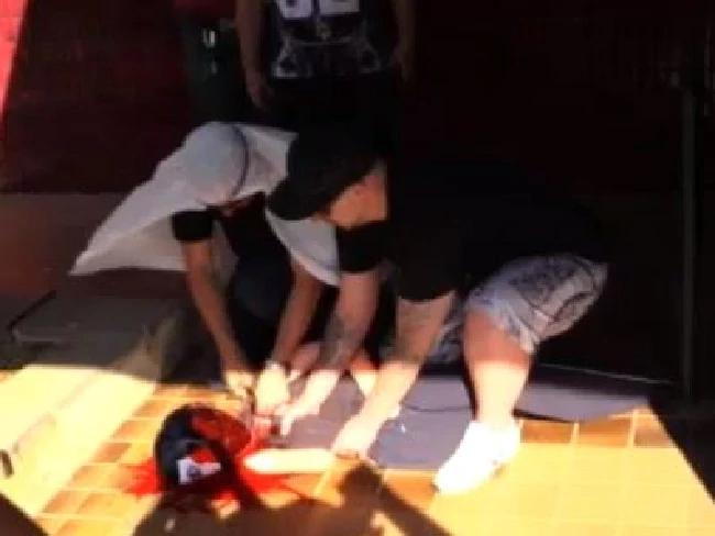 Mock beheading in Bendigo