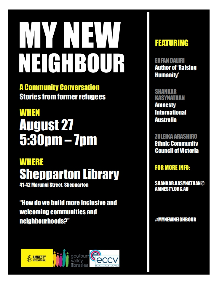 Flyer for My New Neighbour