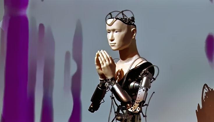 Kannon, the robot preacher at a zen-Rinzai Buddhist temple