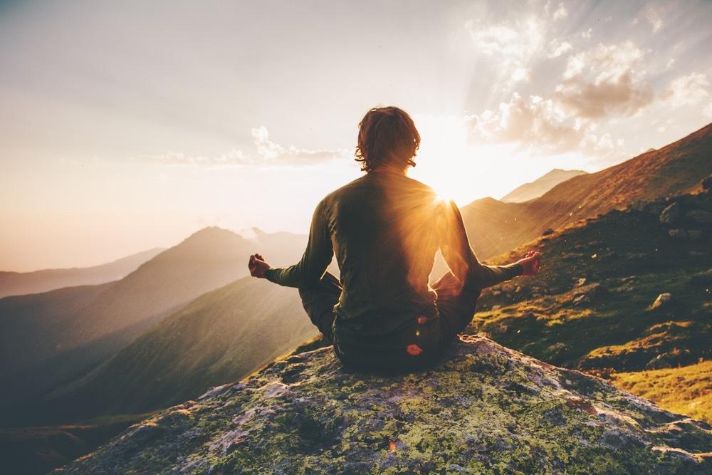 Meditation on a mountain