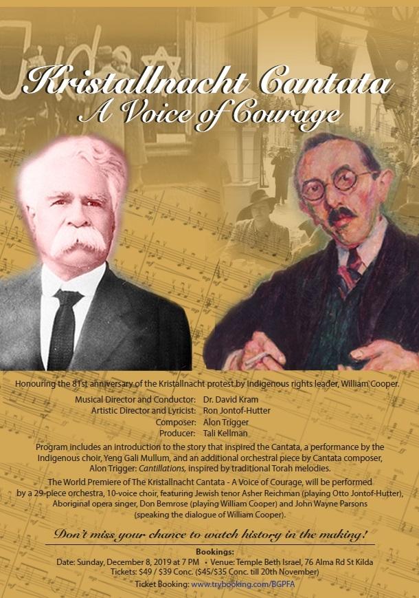 "World Premiere ""Kristallnacht Cantata - A Voice Of Courage"""