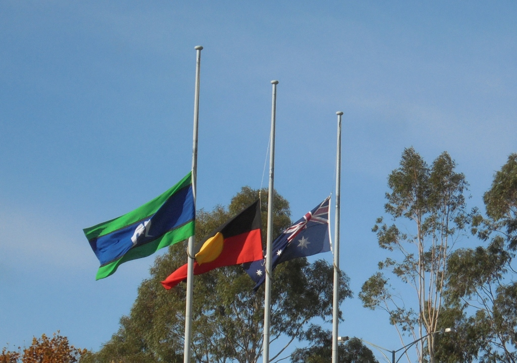Three Australian Flags