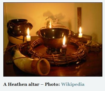 A pagan altar