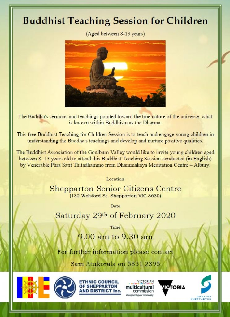 Buddhist teaching for childfren - shepparton
