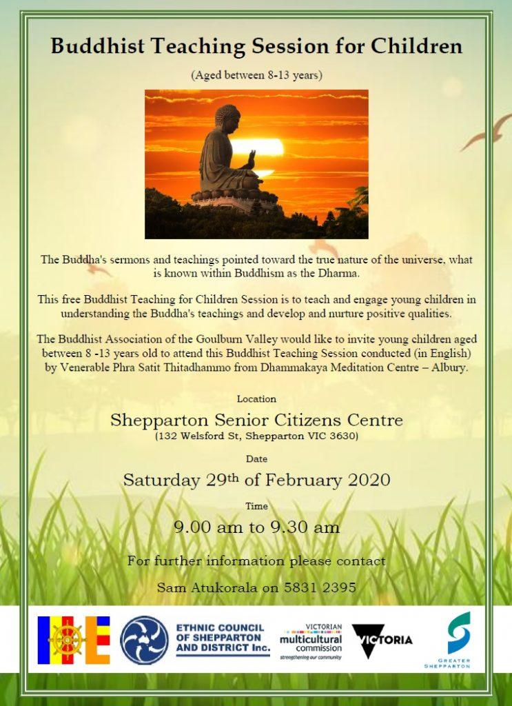 Buddhist teaching for childfren - shepparton