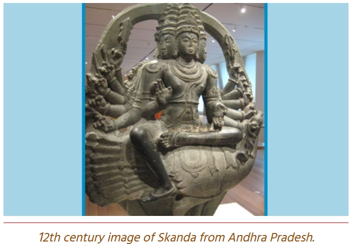 Skanda with 12 arms