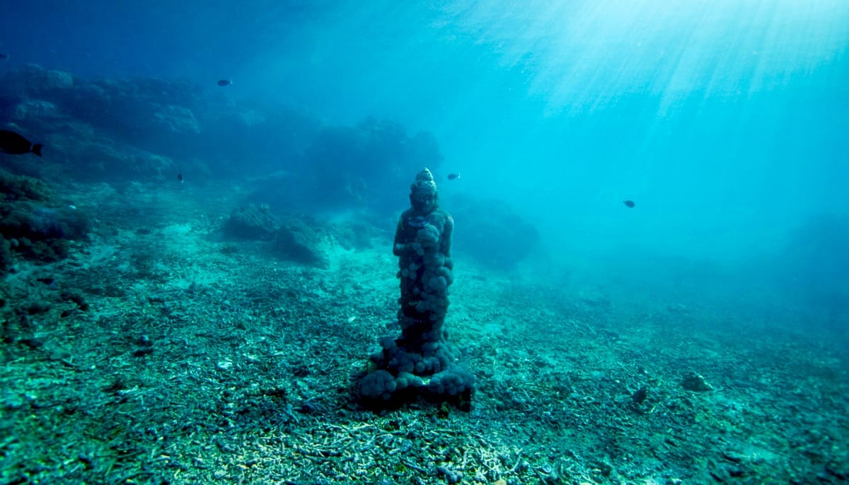 Buddha on the ocean floor