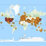 Google Map of Coronavirus