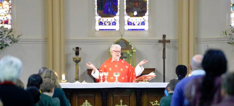 Fr Joe Taylor at St Brendans Church Shepparton