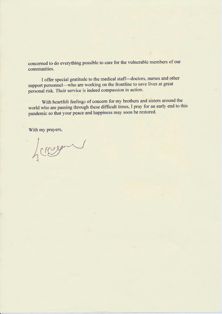 A Special Message from the Dalai Lama