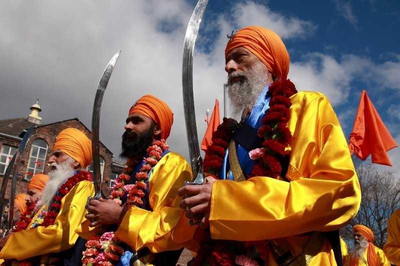 Sikhs observing Baisakhi