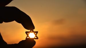 Star of David at sunset
