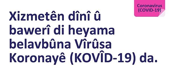 COVID-19 Religious services advice Kurdish - Kurmanji