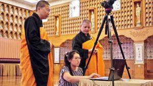 Webcam in Buddhist shrine Perth
