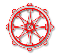 Buddhist Symbol - Wheel of Dharma