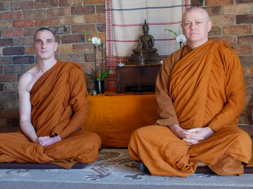 Bhante Akāliko and Bhante Sujato L-R in their Western Sydney monastery.