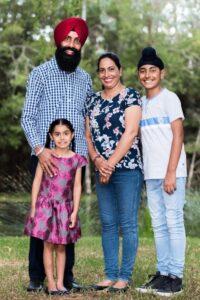 Sandeep Singh Sandhu with family