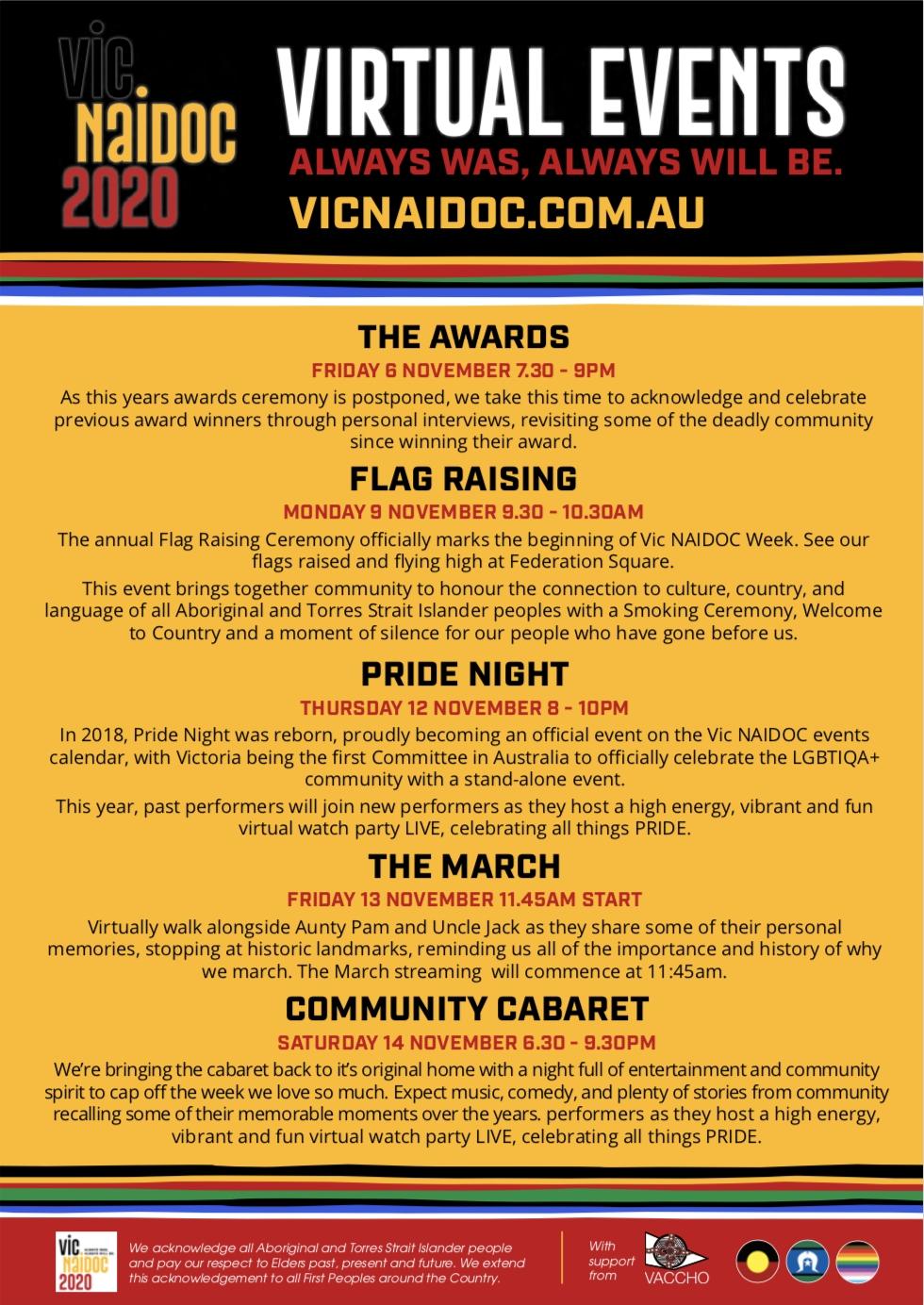 2020 Naidoc Week Virtual Events