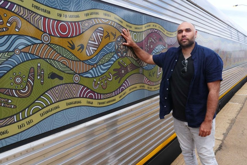 Indigenous artwork at Vline