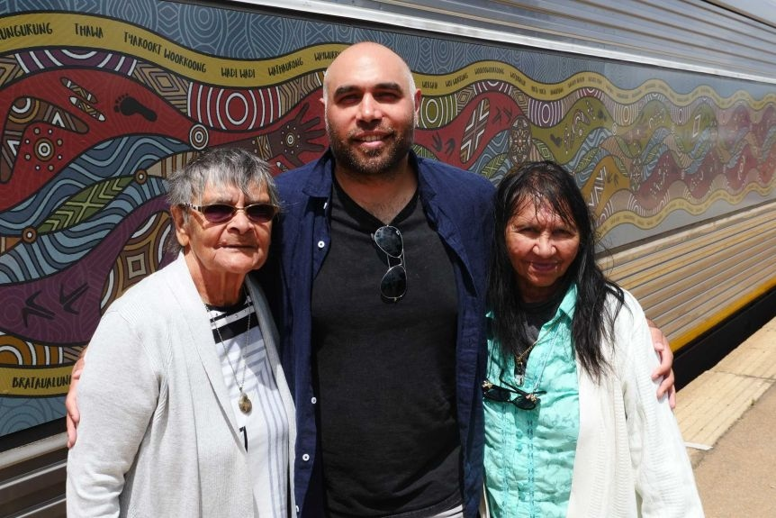Mr Patten with his grandmothers,