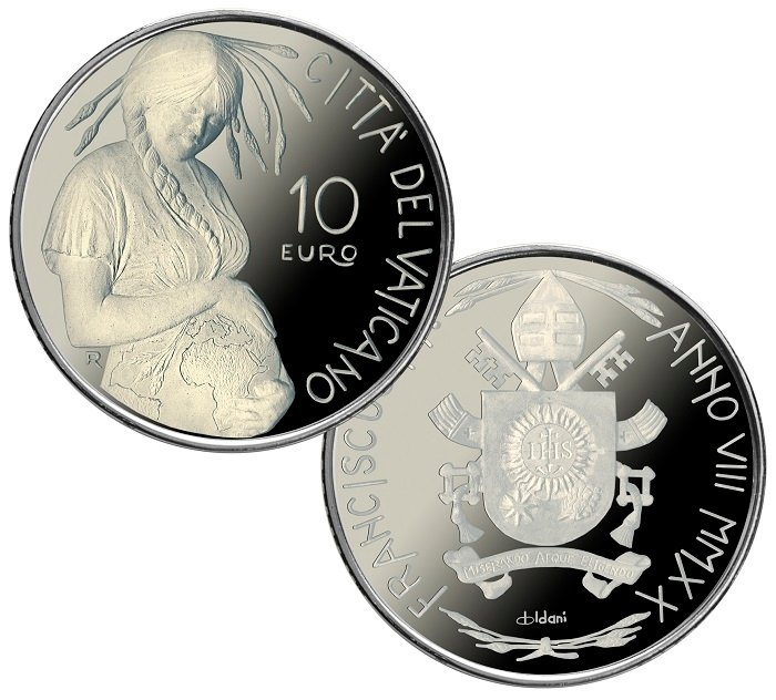 In October 2020, the Vatican Mint issued a coin depicting Mother Earth.