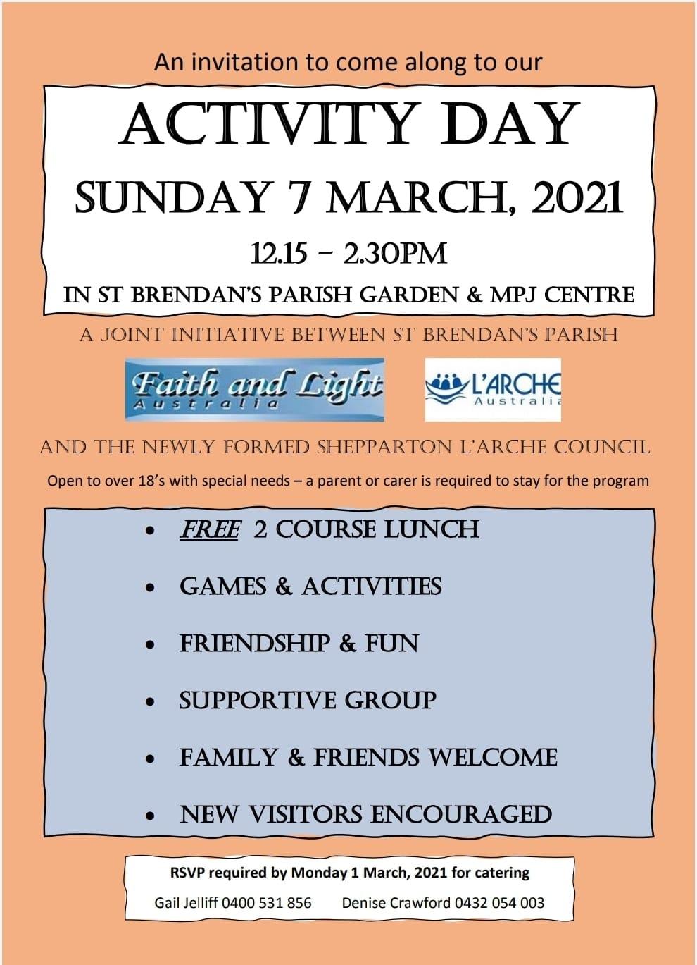 L'Arche  Shepparton - Activity Day