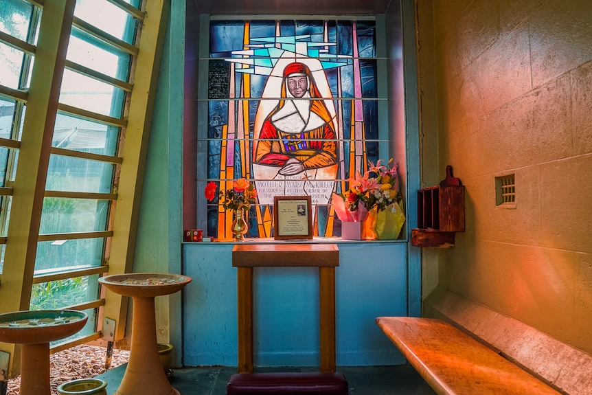 shrine dedicated to Australia's only saint, Mary MacKillop,