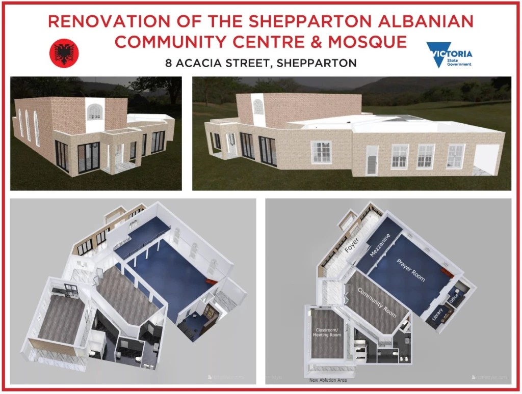 Albanian mosque proposed renovations